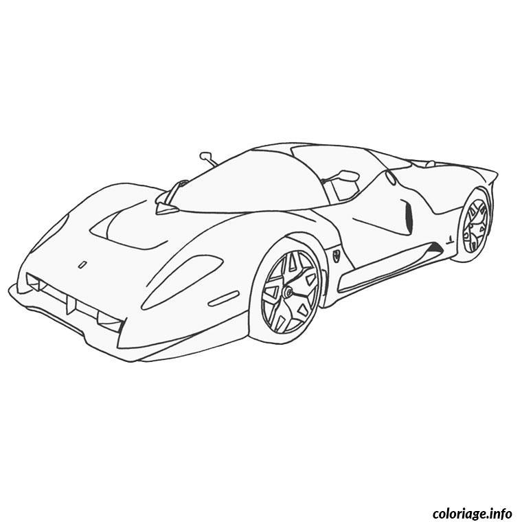 Coloriage ferrari 458 dessin - Voiture de sport a colorier ...
