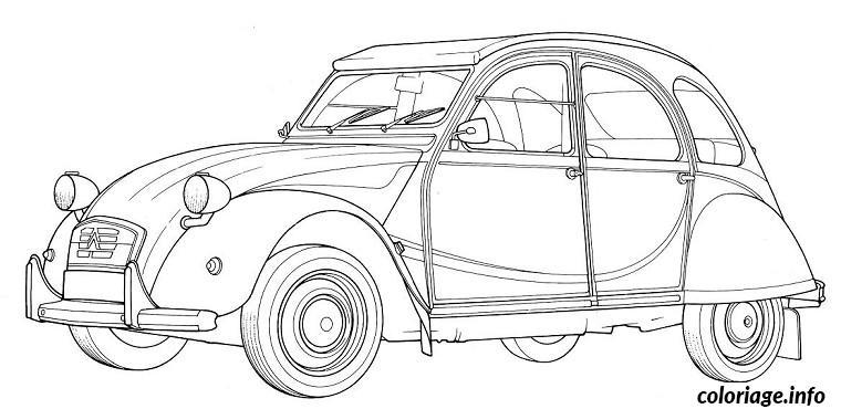 coloriage voiture 2cv dessin