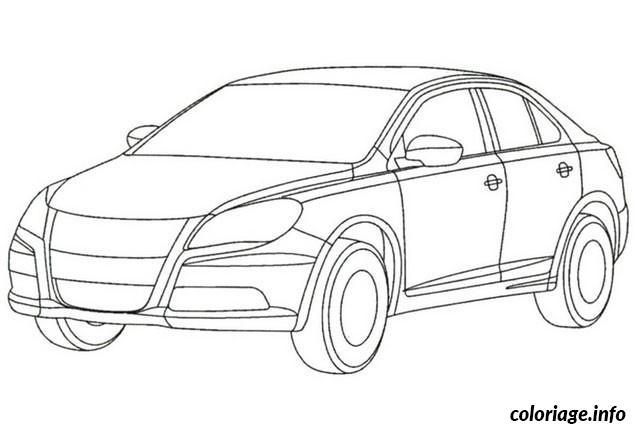 Dessin image voiture c5 Coloriage Gratuit à Imprimer