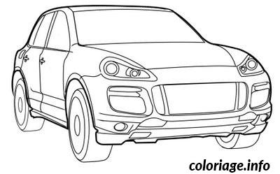 Coloriage voiture porsche for Plans de dessins de porche