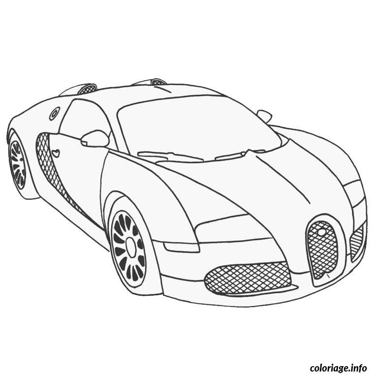 Dessin bugatti veyron super sport Coloriage Gratuit à Imprimer
