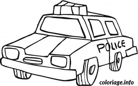 coloriage dessin voiture de police dessin gratuit
