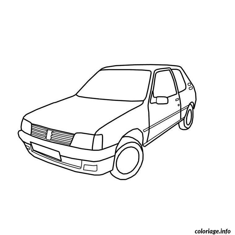 Coloriage voiture 205 - Coloriage voiture de rallye ...