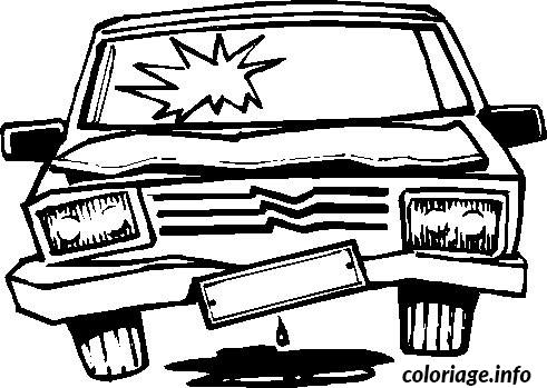 coloriage dessin voiture accidentee. Black Bedroom Furniture Sets. Home Design Ideas