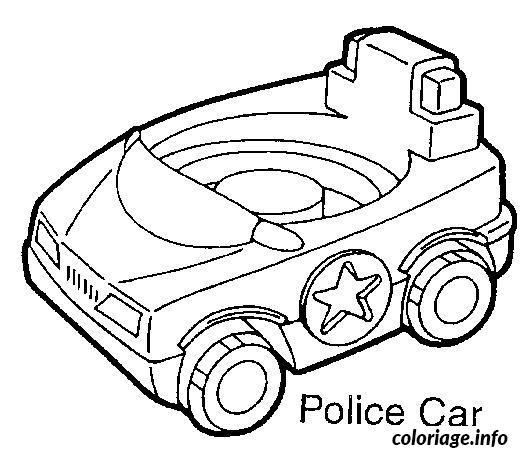 Coloriage voitures de police dessin - Dessin voiture de police ...