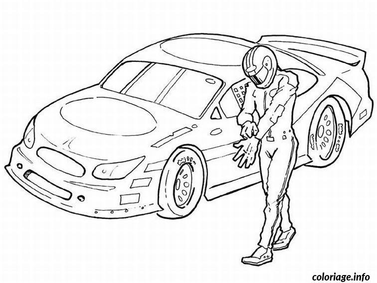 Dessin dessin voiture course Coloriage Gratuit à Imprimer
