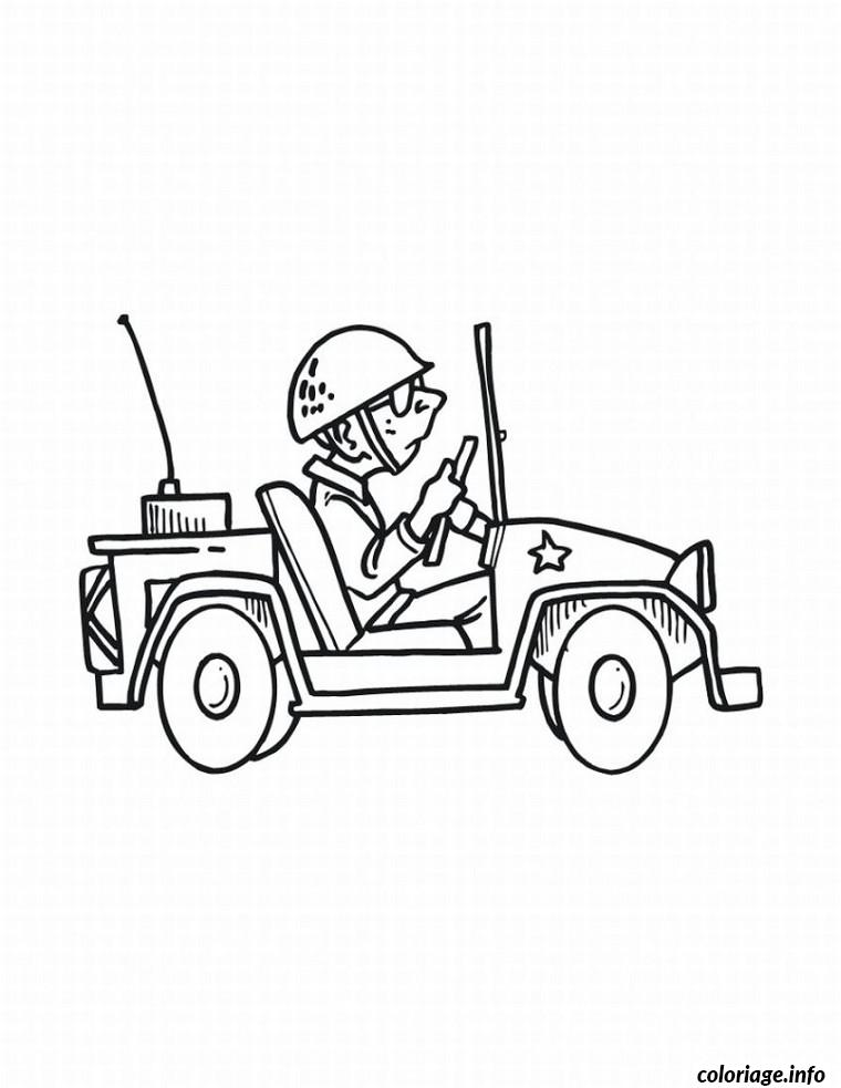 Coloriage voiture militaire dessin - Coloriage info ...