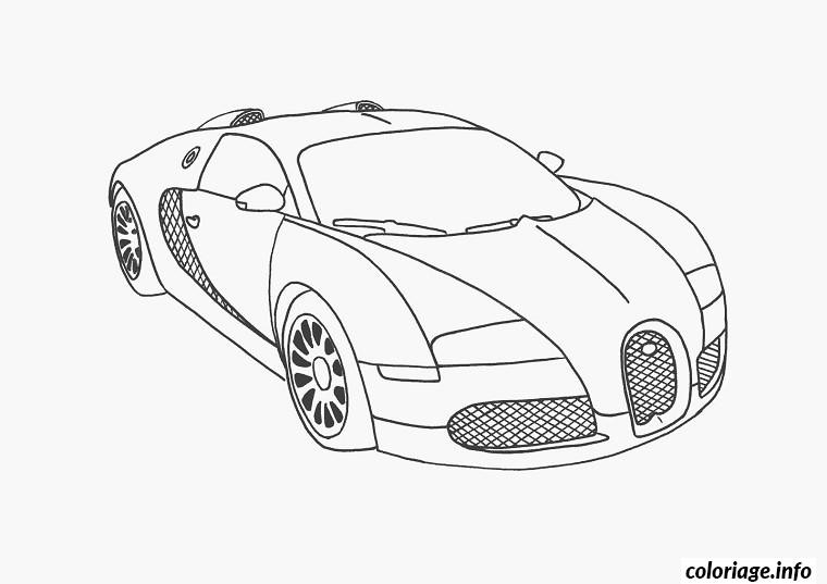 Dessin dessin voiture de luxe Coloriage Gratuit à Imprimer