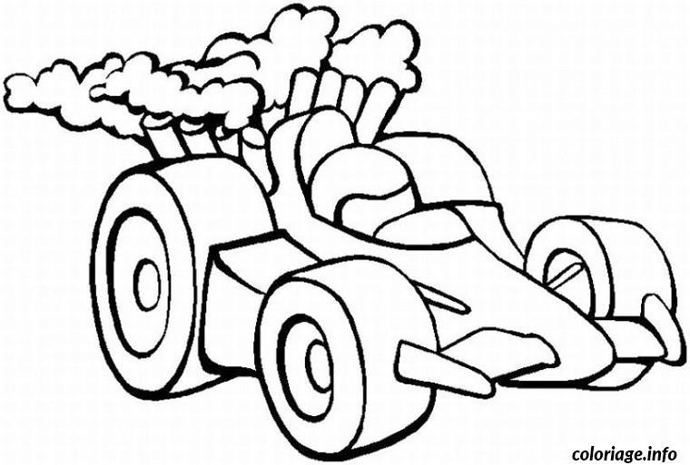 Dessin voiture course Coloriage Gratuit à Imprimer