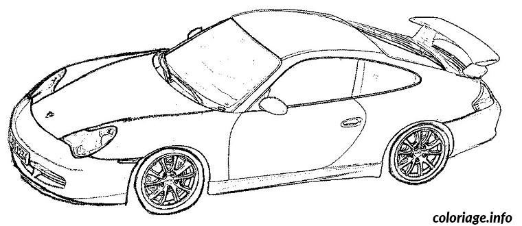 Coloriage voiture de marque for Plans de dessins de porche