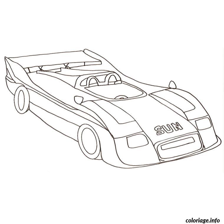Coloriage voiture thermique - JeColorie.com