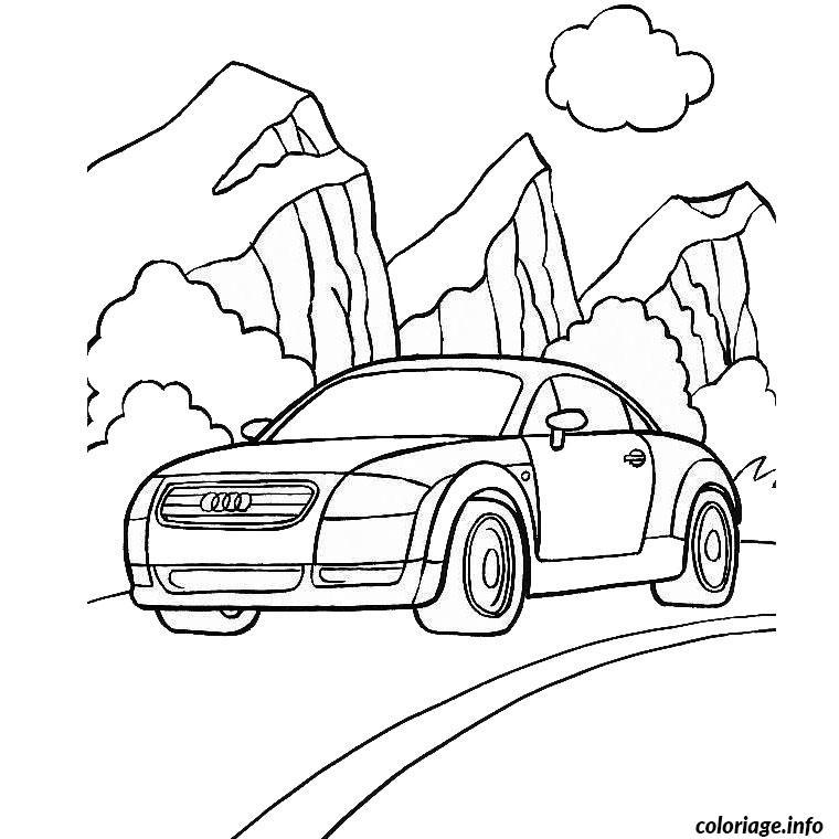 Coloriage audi dessin - Coloriage voiture gratuit ...