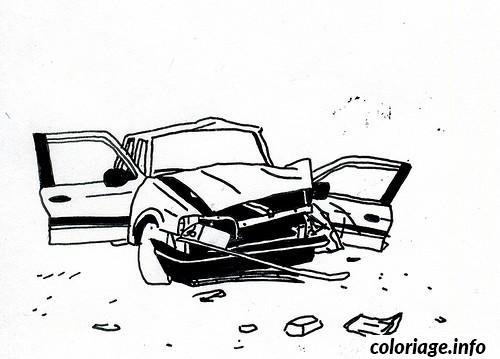 Coloriage image voiture accidentee dessin - Coloriage voiture rallye ...