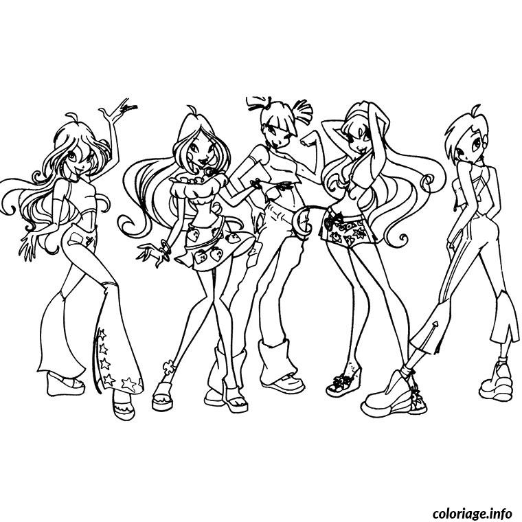 Coloriage winx club saison 5 - Coloriage winx bloom ...