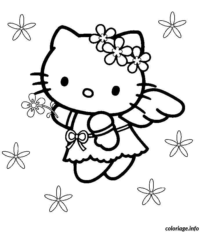 Dessin hello kitty mariage Coloriage Gratuit à Imprimer