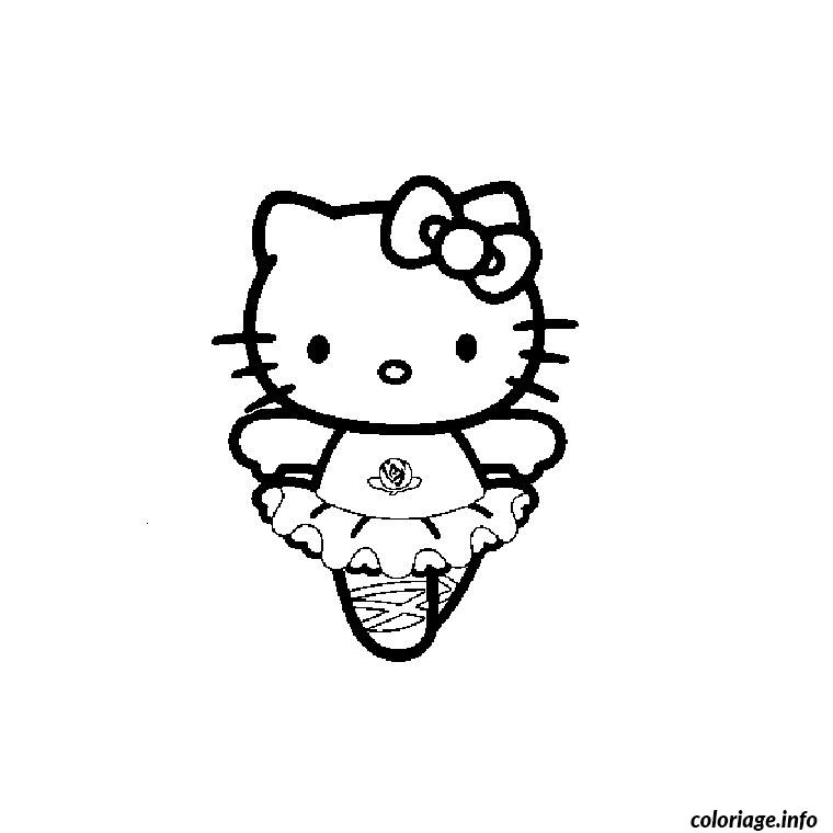 Coloriage hello kitty danseuse dessin - Hello kitty jeux coloriage ...