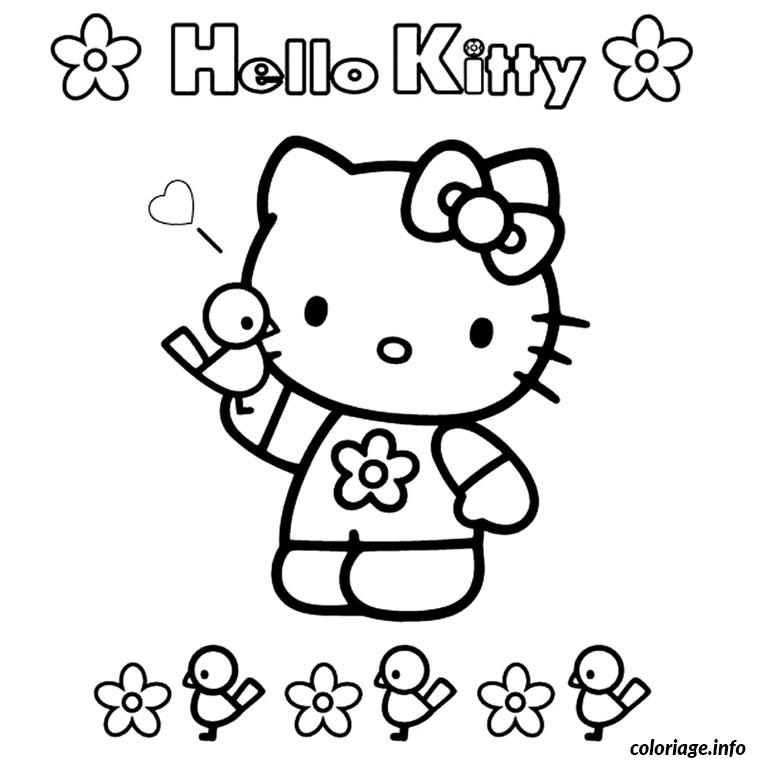 Dessin hello kitty facile Coloriage Gratuit à Imprimer