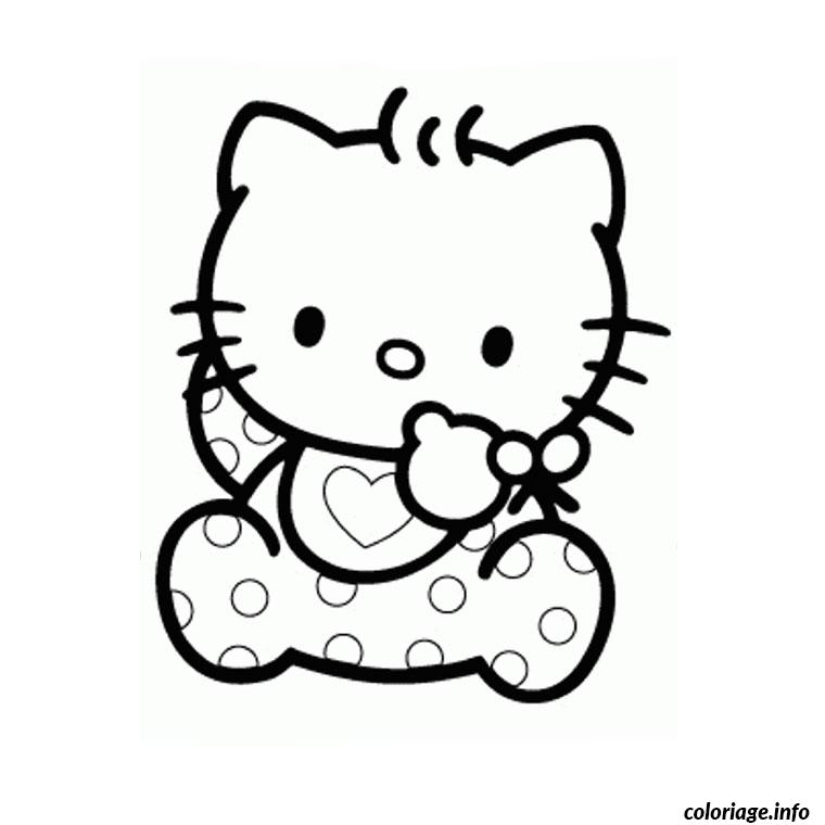 Coloriage hello kitty baby dessin - Coloriage hello kitty a colorier ...