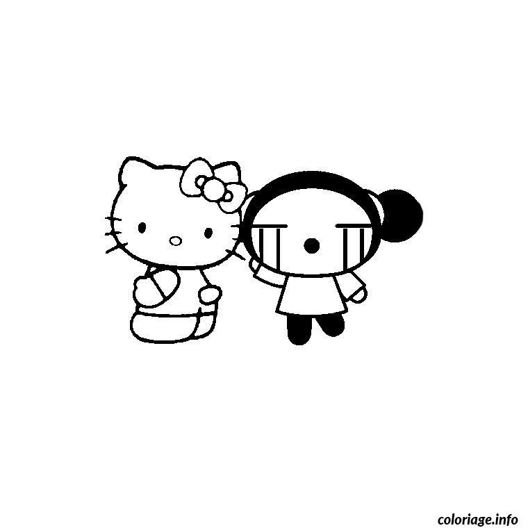 Dessin hello kitty pucca Coloriage Gratuit à Imprimer