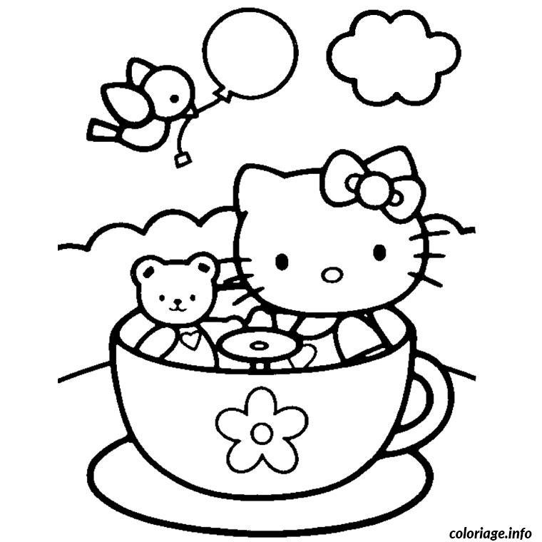 Dessin hello kitty Coloriage Gratuit à Imprimer