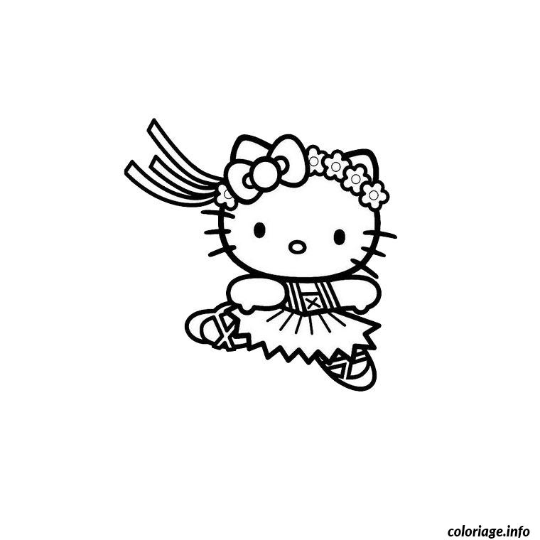 Coloriage hello kitty ballerine dessin - Colorier kitty ...