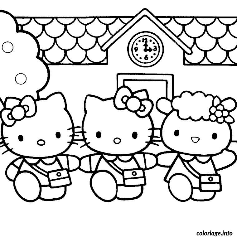 Coloriage hello kitty et ses amis dessin - Coloriage hello kitty gratuit ...