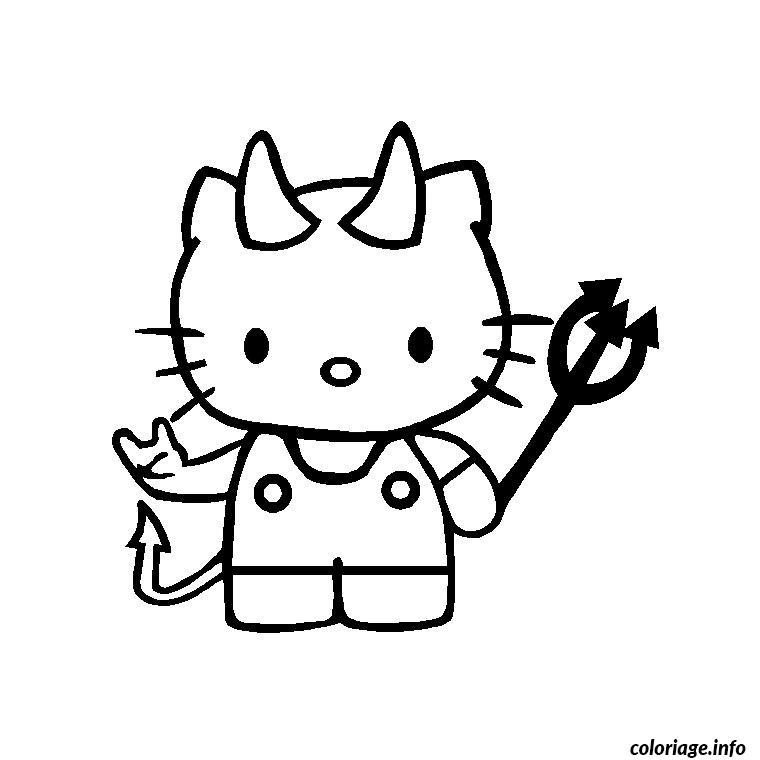 Dessin hello kitty punk Coloriage Gratuit à Imprimer