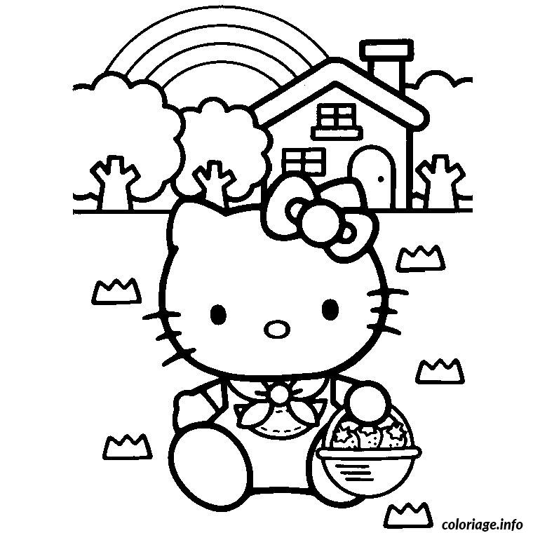 Coloriage Tv Hello Kitty Jecolorie Com
