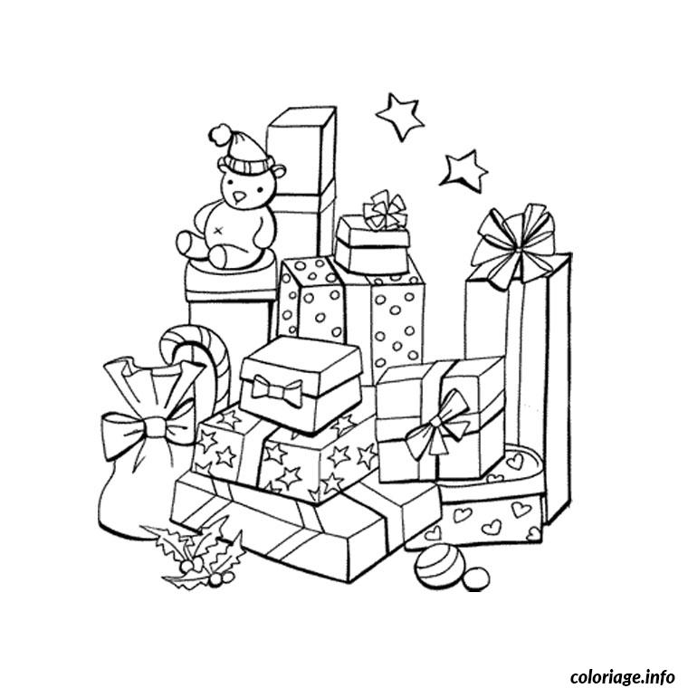 coloriage de noel cadeaux dessin. Black Bedroom Furniture Sets. Home Design Ideas