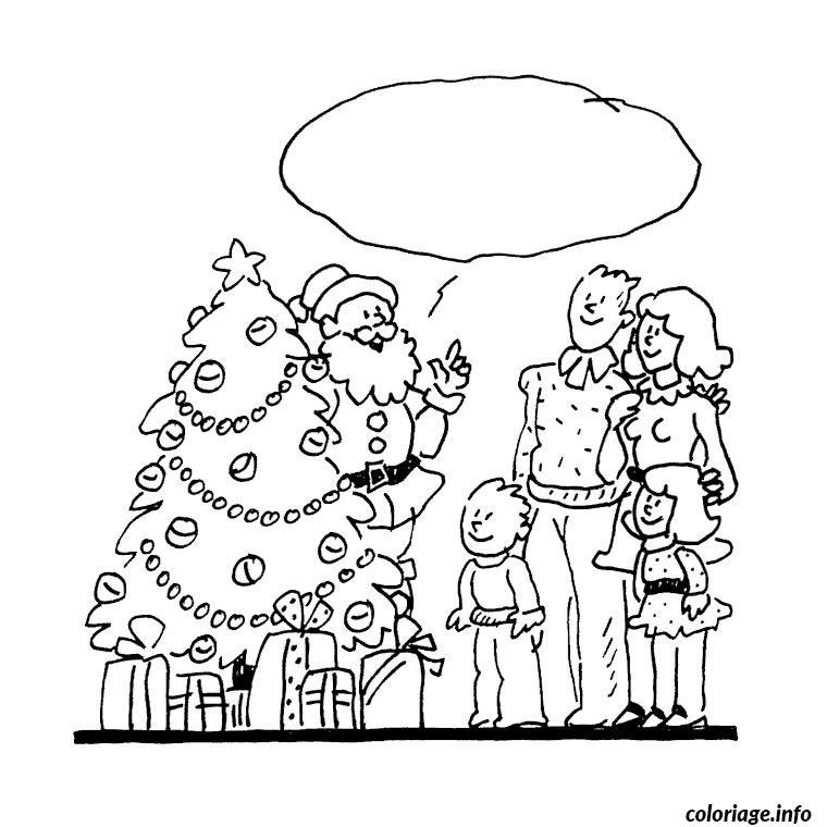 Coloriage De Noel En Famille dessin