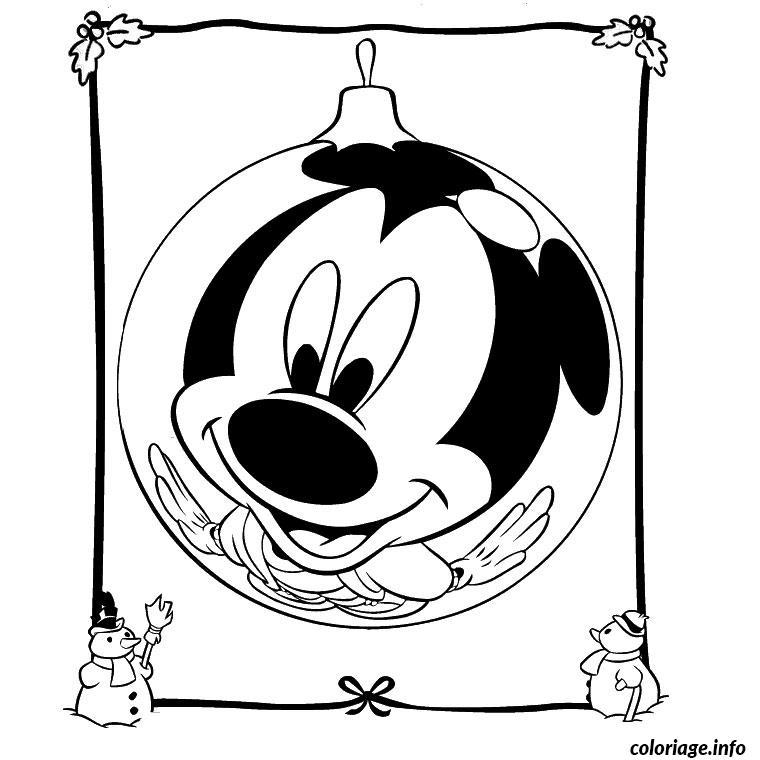 Coloriage de noel disney mickey - Dessin de mickey a colorier ...
