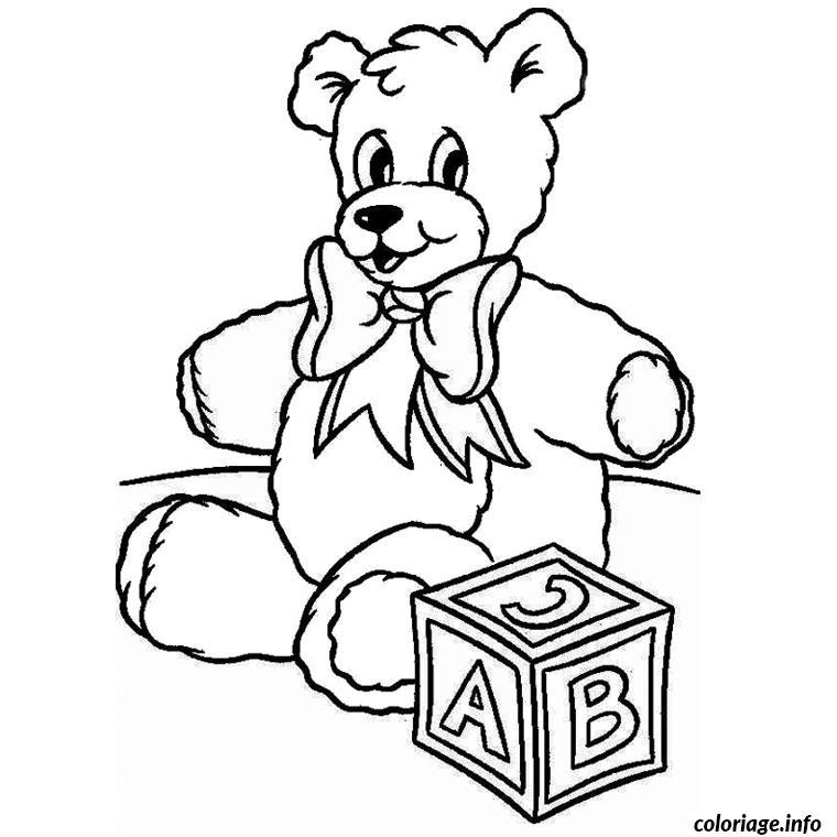 Coloriage de noel ourson dessin - Comment dessiner winnie l ourson ...