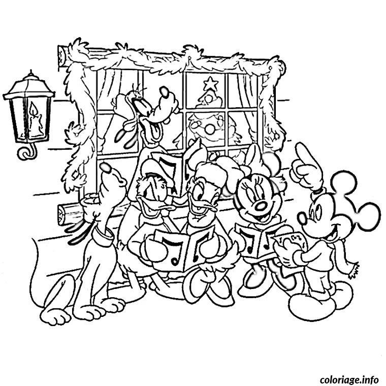 coloriage de noel de disney dessin imprimer - Disney Dessin