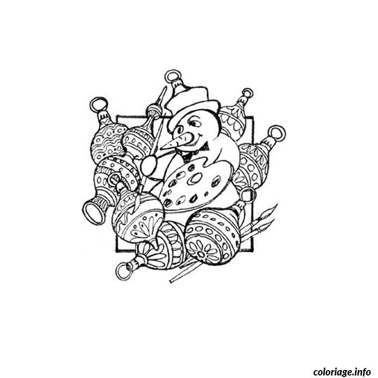 Dessin de noel cycle 3 Coloriage Gratuit à Imprimer