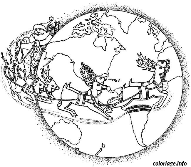 Coloriage Noel Dans Le Monde dessin