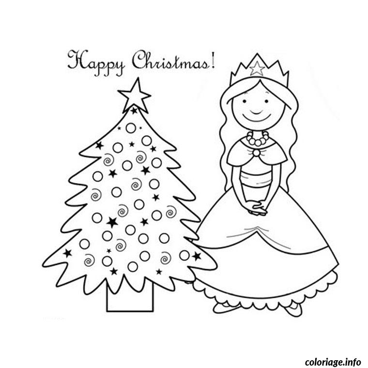 Coloriage noel princesse - Coloriages princesses gratuits ...