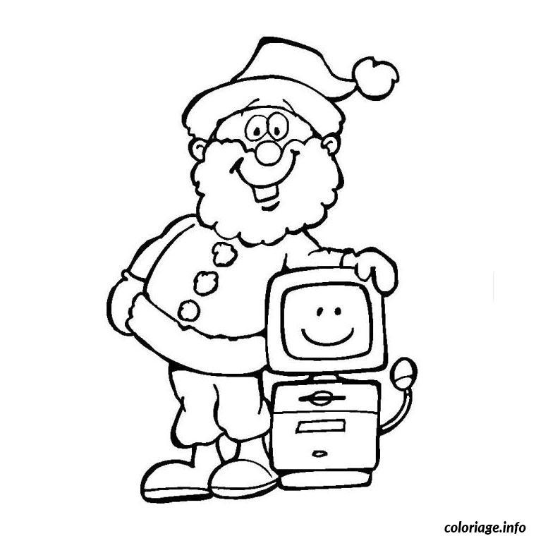Coloriage Noel Ordinateur Dessin Noel A Imprimer