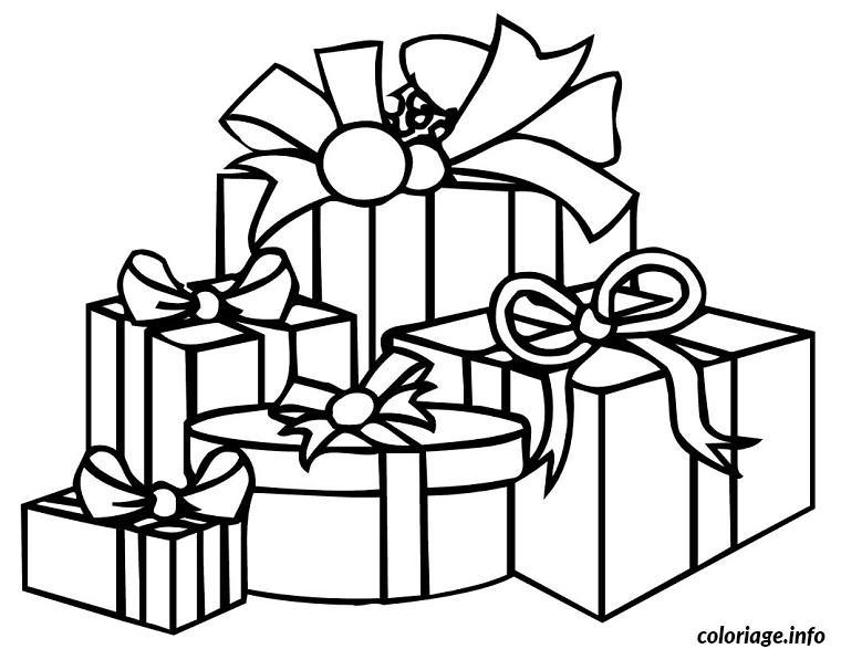 Coloriage noel cadeau facile dessin - Cadeau coloriage ...