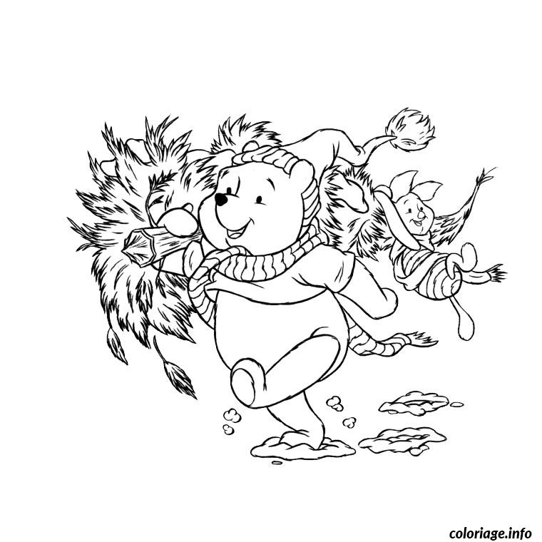 Coloriage noel winnie l ourson - Winnie l ourson noel ...