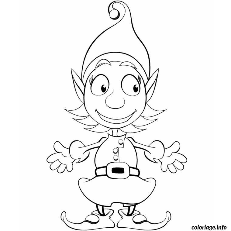 Coloriage noel humour dessin - Dessin lutins ...