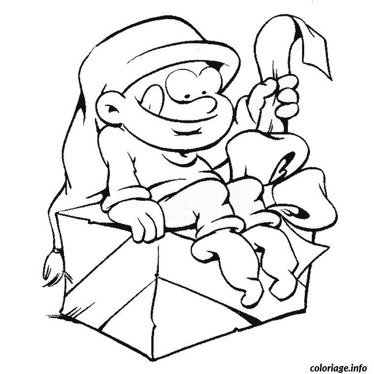 Coloriage Noel Humoristique dessin