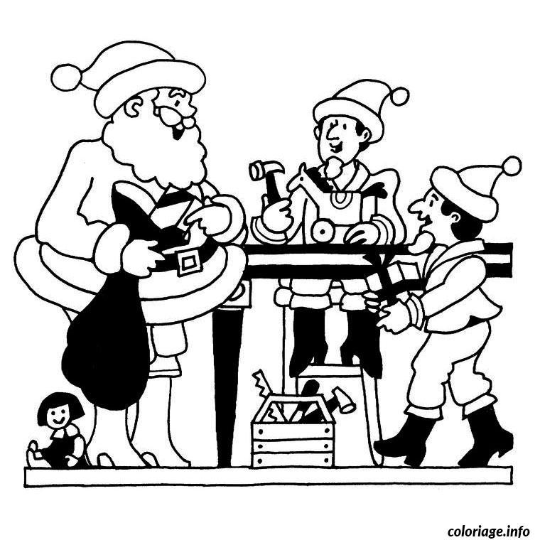 Coloriage Pere Noel Sur Ordinateur dessin