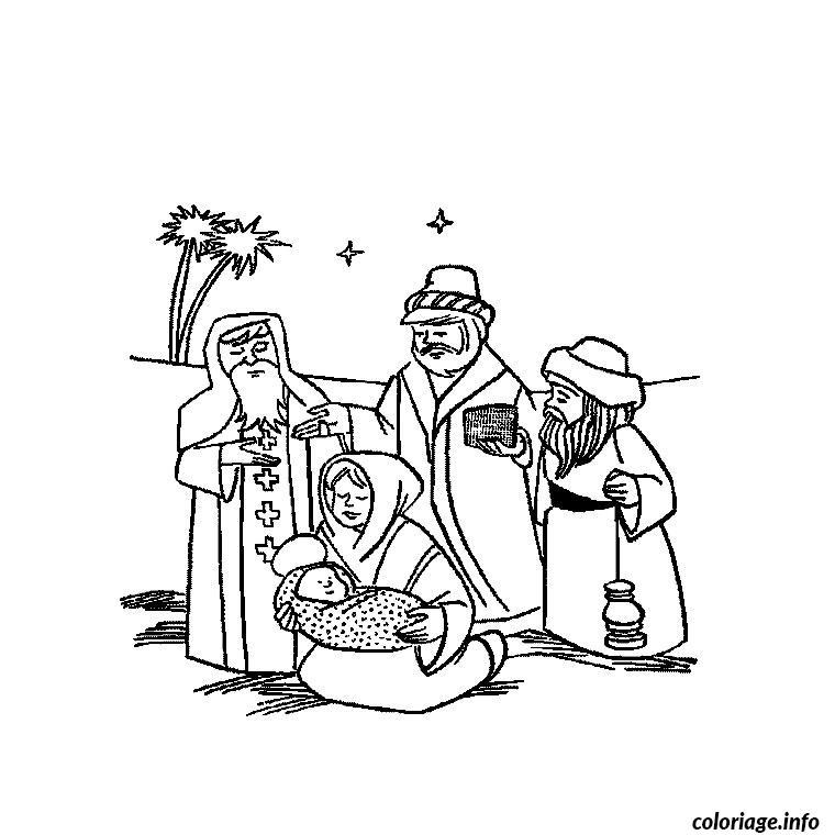 Coloriage noel religion - Coloriage catholique ...