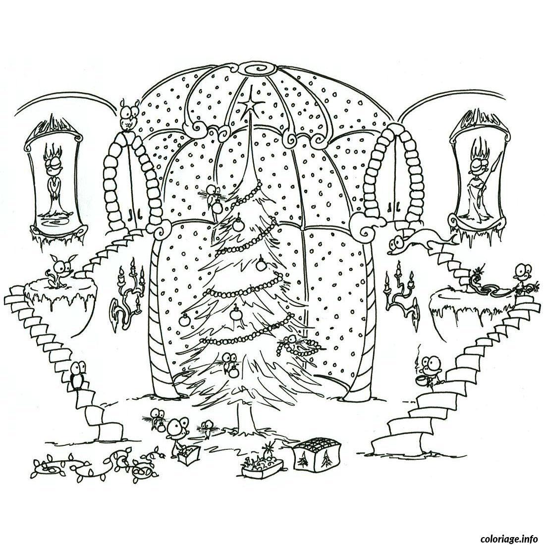 Coloriage arbre de noel dans verriere dessin - Arbre de noel dessin ...