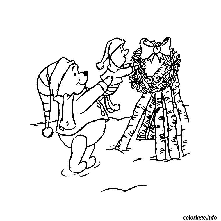 Coloriage de noel winnie l ourson dessin - Coloriage d ourson a imprimer ...