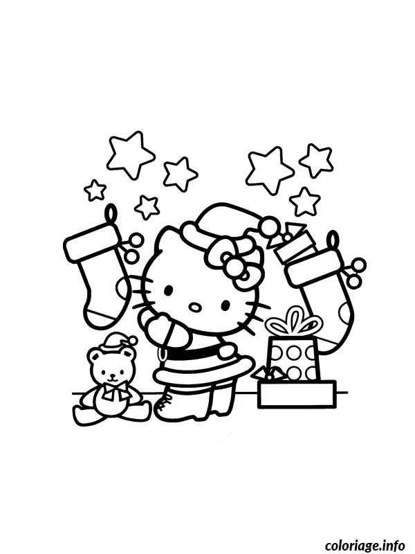 Coloriage hello kitty noel dessin - Hello kitty jeux coloriage ...