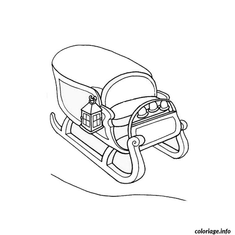 Coloriage pere noel avec traineau dessin - Coloriage chien de traineau ...