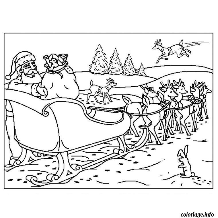 de noel rennes coloriage dessin 1477