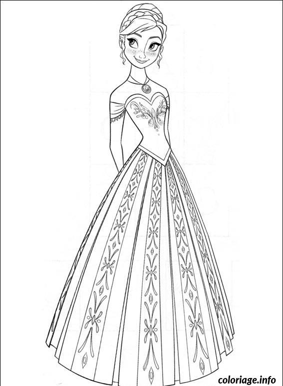 Dessin anna la belle princesse Coloriage Gratuit à Imprimer