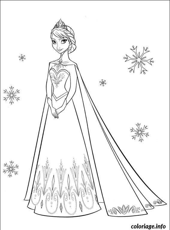 Coloriage Portrait Photo De Princesse Elsa Dessin à Imprimer